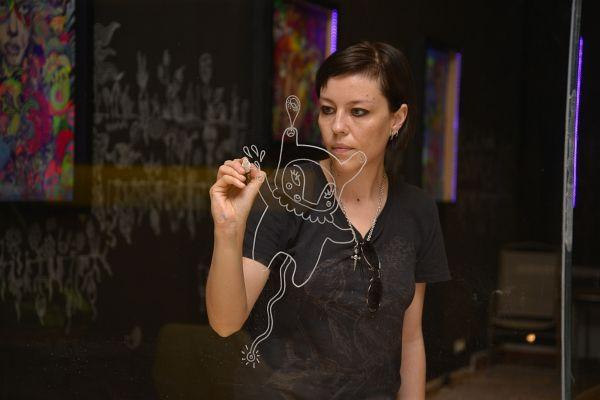 #fast food, personala Anei Stefania Andronic (BUZU) la Five Plus Art Gallerydin Viena, Austria