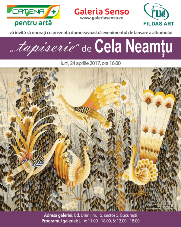 "Launch of the album ""tapiserie"" (""tapestry"") by Cela Neamtu"