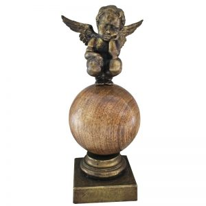 Ingeras pe sfera-sculptura-serban-vrabiescu
