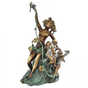 Venus cu amorasi-sculptura-elena-dumitrescu