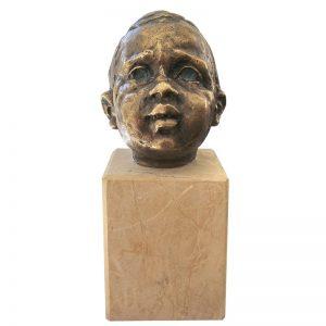 Portret de copil-sculptura-serban-vrabiescu