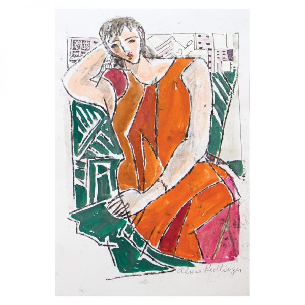 Rochia roşie-grafica-alma-redlinger
