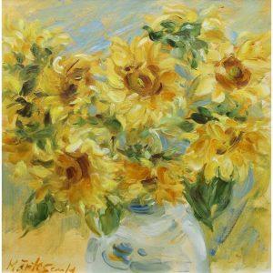 Floarea soarelui-pictura-marinela-mantescu