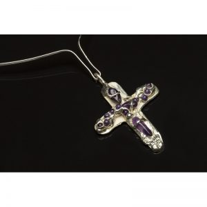 Pandant Cruce Ametist II-bijuterie-alina-bancila