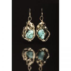 Cercei Turcoaz II-bijuterie-alina-bancila