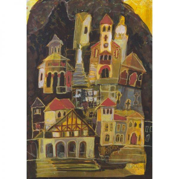 Arhitecturi din Brezoi-pictura-angela-tomaselli