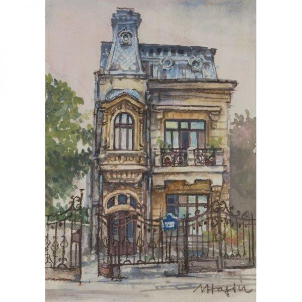 Casa veche pe Strada Masaryk-grafica-mirela-hagiu