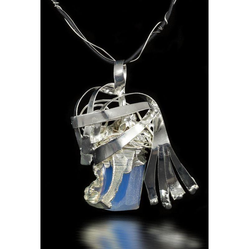 Colier cristal albastru-bijuterie-alina-bancila