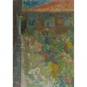 Alee cu flori la Pasarea-pictura-cristian-ditoiu