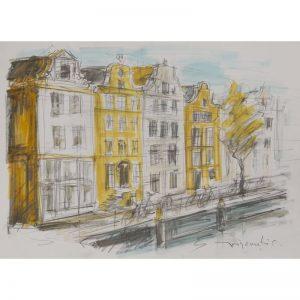 Peisaj din Amsterdam-pictura-constantin-grigoruta