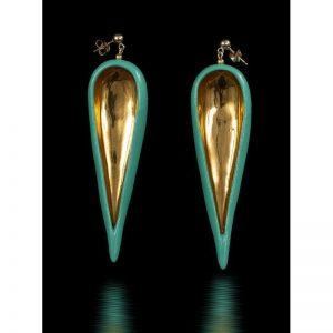 Cercei frunza lungi II-bijuterie-raluca-buzura