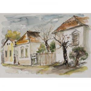 Peisaj din Blaj I-pictura-constantin-grigoruta