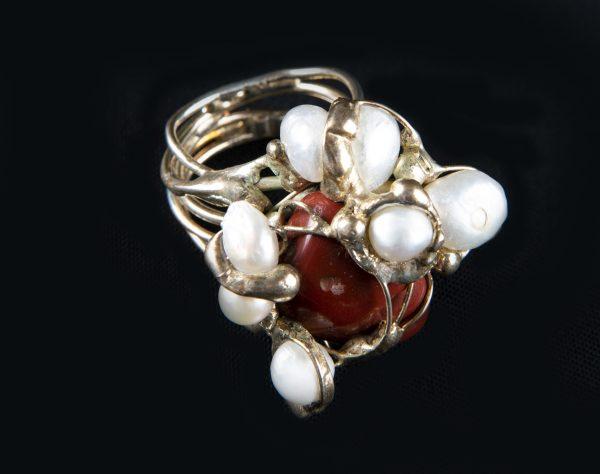 Inel Agata maro-bijuterie-alina-bancila