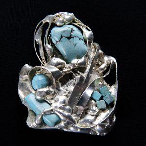 Brosa Turcoaz-bijuterie-alina-bancila