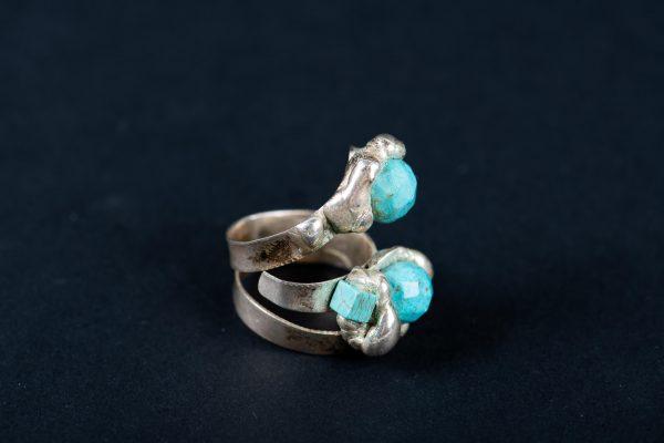 Inel pietre Turcoaz-bijuterie-alina-bancila