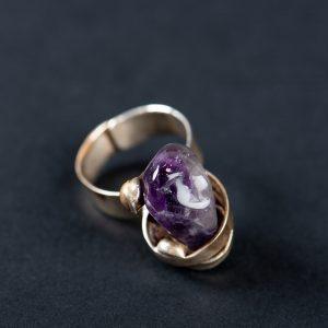 Inel Ametist Spirala-bijuterie-alina-bancila