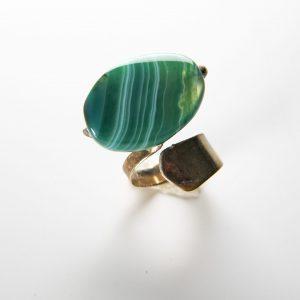 Inel Agata verde-bijuterie-alina-bancila