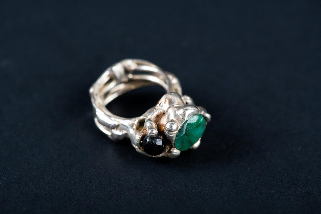 Inel Agata verde si Onix-bijuterie-alina-bancila