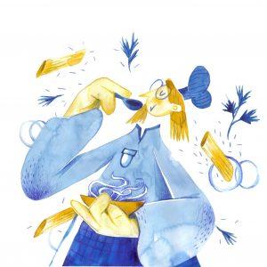 Pasta time/Quarantine Pleasures-ilustratie-si-caricatura-