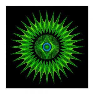 Sirius star mandala-arta-decorativa-fluo-webs