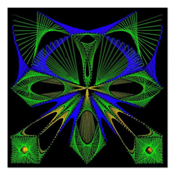 Forest butterfly-arta-decorativa-fluo-webs