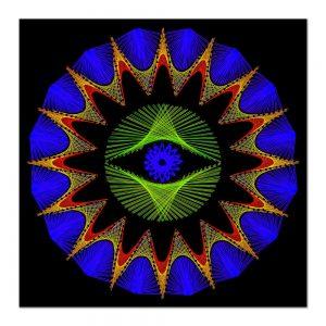 Sun mandala-arta-decorativa-fluo-webs