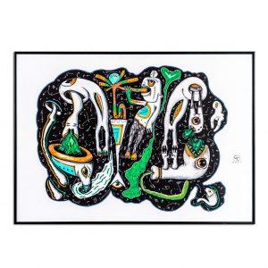 Worm hole vertige-grafica-gabriel-caloian
