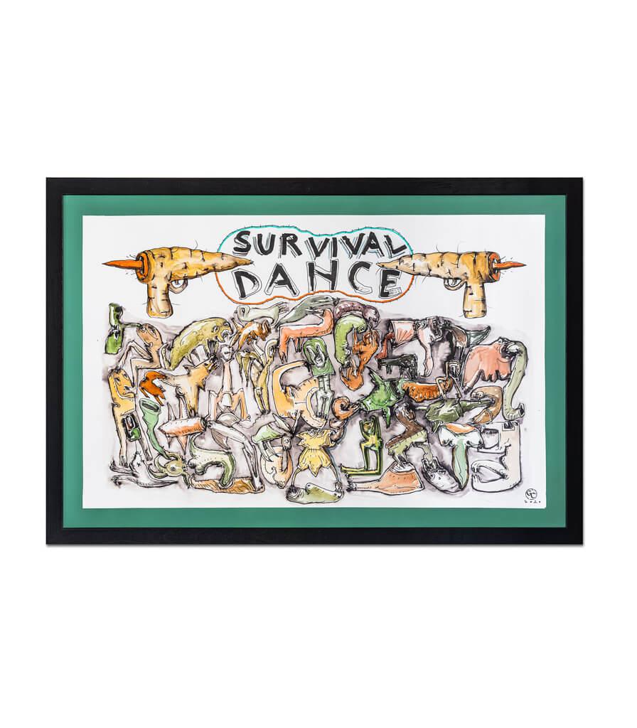 Survival dance-grafica-gabriel-caloian